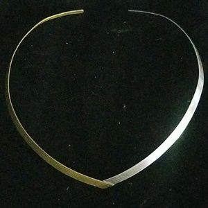 Ed levin Sterling Silver and Brass Necklace collar